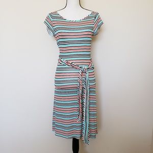 Julienne Weston Wear Striped Hi-Lo Dress Size XS